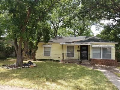 Dallas Single Family Home Active Option Contract: 1247 Moran Drive