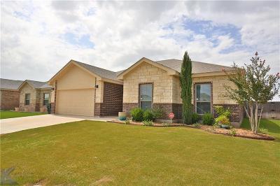 Abilene Single Family Home For Sale: 333 Miss Ellie Lane