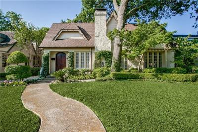 Highland Park, University Park Single Family Home Active Option Contract: 4557 Belclaire Avenue