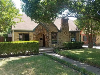 Dallas Single Family Home For Sale: 5626 McCommas Boulevard
