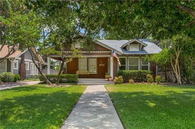 Dallas Single Family Home Active Option Contract: 5822 Belmont Avenue