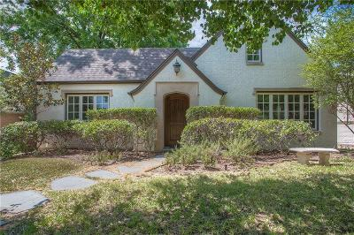Fort Worth Single Family Home For Sale: 4609 Lafayette Avenue