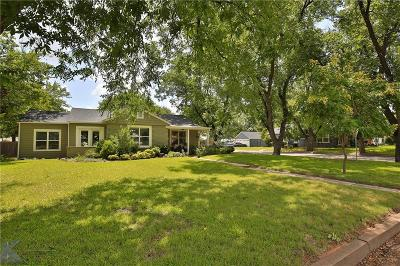 Abilene Single Family Home For Sale: 333 Riverside Boulevard
