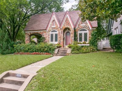 Dallas Single Family Home For Sale: 533 Newell Avenue