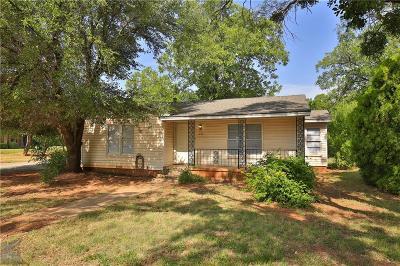 Abilene Single Family Home Active Option Contract: 1234 Blair Street