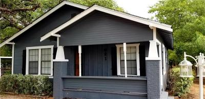 Fort Worth Single Family Home Active Option Contract: 621 Lloyd Avenue