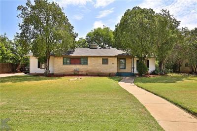 Abilene Single Family Home For Sale: 765 S Leggett Drive