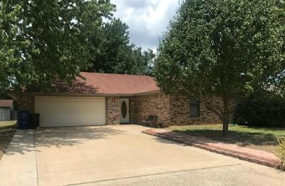 Denison Single Family Home Active Option Contract: 2715 Regal Drive
