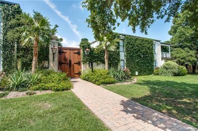 Dallas Single Family Home Active Option Contract: 5917 E University Boulevard #114