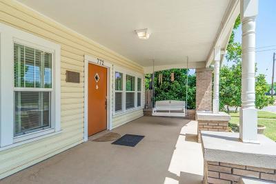 Abilene Single Family Home For Sale: 772 Mulberry Street