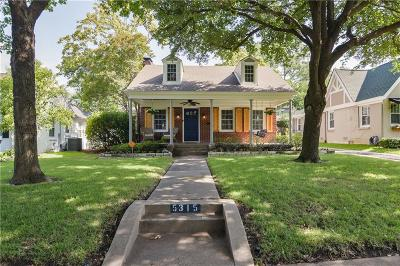 Dallas Single Family Home For Sale: 5315 McCommas Boulevard