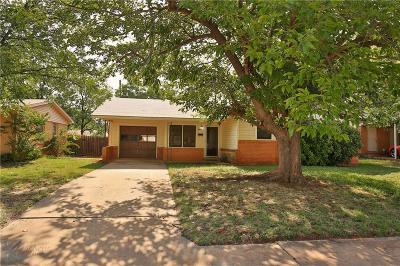 Abilene Single Family Home Active Option Contract: 1425 Glenhaven Drive