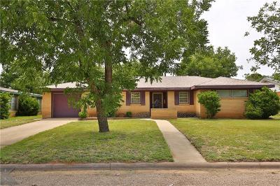 Abilene Single Family Home Active Option Contract: 2533 Madison Avenue