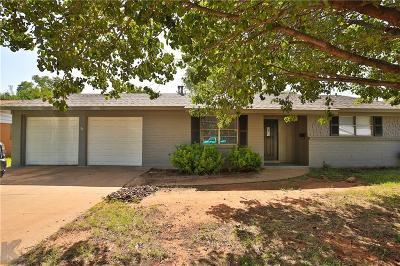 Abilene Single Family Home For Sale: 1901 Westwood Drive
