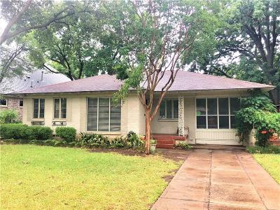 Dallas Single Family Home For Sale: 4026 Glenridge Road