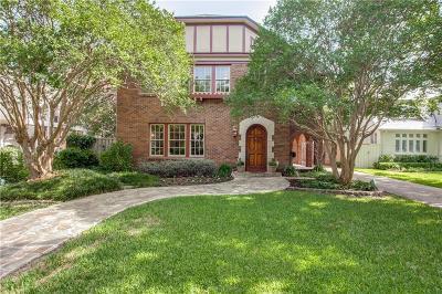 Dallas Single Family Home Active Option Contract: 6609 Avalon Avenue