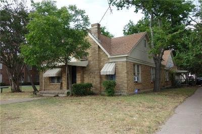 Fort Worth Multi Family Home For Sale: 3149 S University Drive