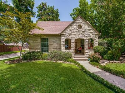 Dallas Single Family Home Active Option Contract: 5603 Mercedes Avenue