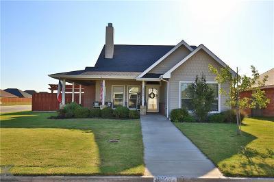 Abilene Single Family Home For Sale: 3065 Legends Trail