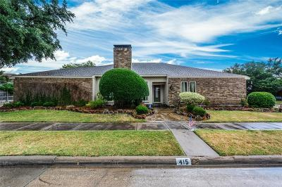 Richardson Single Family Home For Sale: 415 Winding Brook Lane
