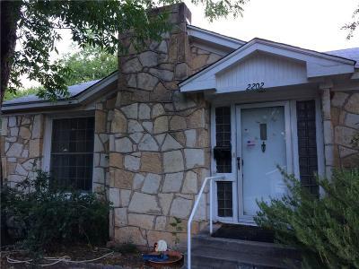 Abilene Single Family Home Active Option Contract: 2202 S 8th Street