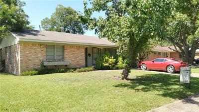 Mesquite Single Family Home Active Option Contract: 3416 Sheryl Drive