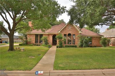 Abilene Single Family Home For Sale: 7 Lamar Circle