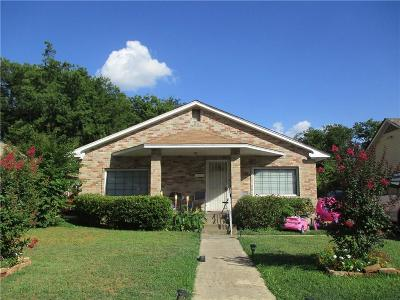 Dallas TX Single Family Home For Sale: $85,000