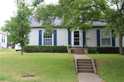 Sherman Single Family Home Active Option Contract: 619 W Brockett