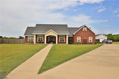 Abilene Single Family Home For Sale: 270 Tempest Lane