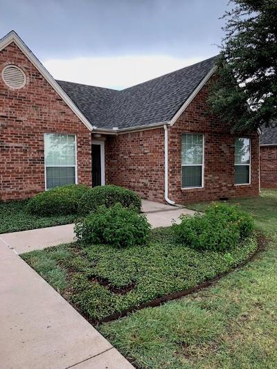 Abilene Townhouse For Sale: 7109 Mesa Bend