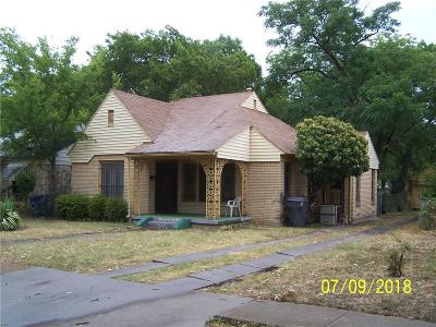 Dallas Single Family Home For Sale: 1822 Maryland Avenue