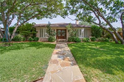 Dallas Single Family Home For Sale: 6957 Delmeta Drive