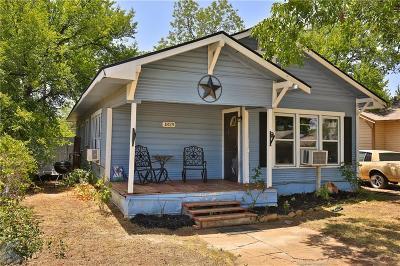 Abilene Single Family Home For Sale: 1829 N 7th Street