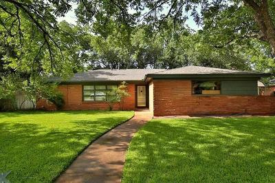 Abilene Single Family Home For Sale: 3593 Hunters Glen Road