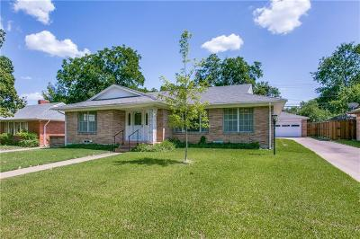 Dallas Single Family Home For Sale: 6344 Woodcrest Lane