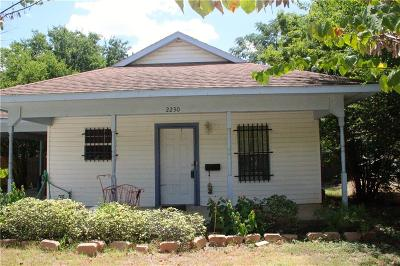 Dallas TX Single Family Home For Sale: $115,000