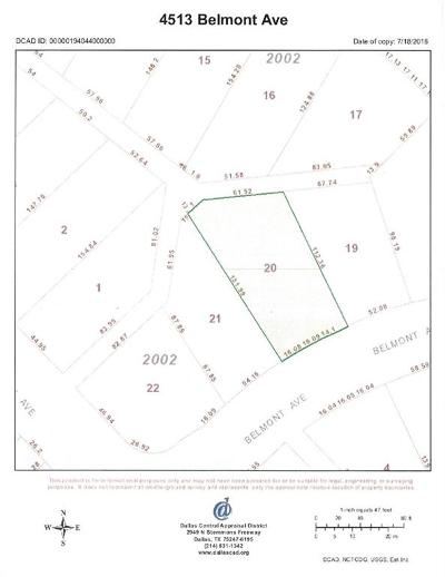 Dallas Residential Lots & Land For Sale: 4513 Belmont Avenue