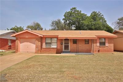 Abilene Single Family Home For Sale: 2257 Bel Air Drive