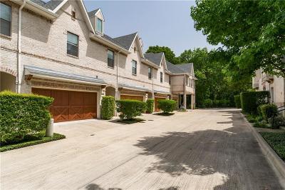 Dallas Townhouse For Sale: 8821 Tudor Place