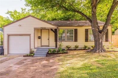 Fort Worth Single Family Home For Sale: 7432 Ewing Avenue