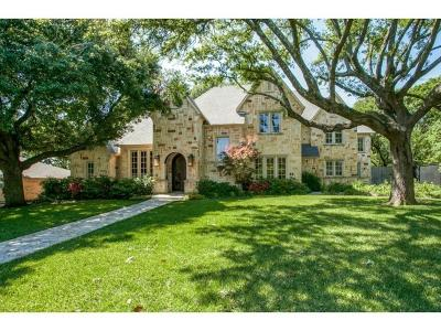 Dallas TX Single Family Home For Sale: $1,350,000