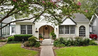 Dallas Single Family Home For Sale: 5819 Monticello Avenue