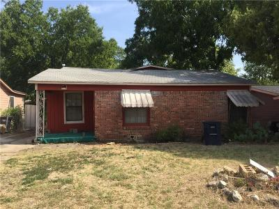 Fort Worth TX Single Family Home For Sale: $49,000