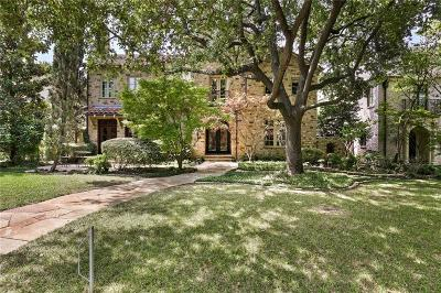 Dallas County Single Family Home For Sale: 3629 Marquette Street