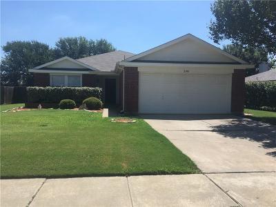 Denton Single Family Home Active Option Contract: 2300 Overlook Lane