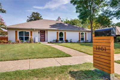 Plano Single Family Home Active Option Contract: 1801 Cross Bend Road