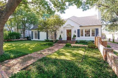 Dallas TX Single Family Home For Sale: $1,450,000