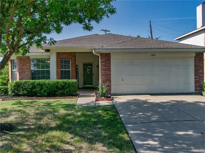 Forney Single Family Home Active Option Contract: 1401 Warrington Way