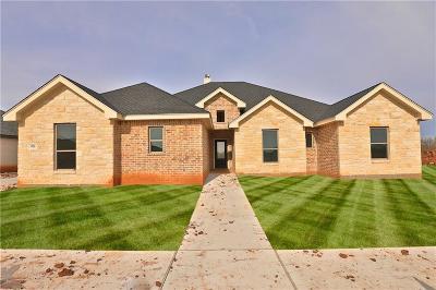 Abilene Single Family Home For Sale: 3326 Front Nine